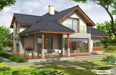 a very nice house Style At Home, Bungalow Porch, Mobile Home Porch, Cottage Wallpaper, Fairytale Cottage, Small Porches, Cottage Garden Design, Small Cottages, Diy Porch