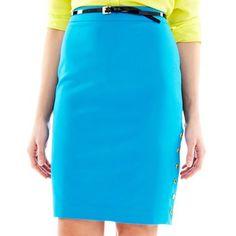 Worthington® Side-Snap Pencil Skirt - Petite - jcpenney