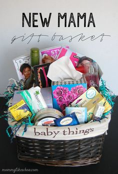 30 Easy And Affordable DIY Gift Baskets For Every Occasion - I love making my own gifts – don't you? I mean, I love everything about it, even creating my own gift baskets. I've been making gift baskets for a while and they are normally a huge hit. Homemade Gift Baskets, Diy Gift Baskets, Homemade Gifts, Diy Gifts, Raffle Baskets, Gift Baskets For Kids, Pregnancy Gift Baskets, Pregnancy Gifts, New Mommy Gifts
