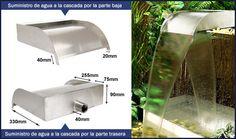 30cm Cascada de acero inoxidable estilo Victoria €139.95