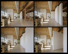 Olson Kundig Architects - Sliding and pivoting 9'x9' wall panels  and storage/work islands on casters