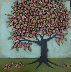 Blossoming Folk Art Tree | Jane DesRosier