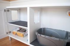 how to make your own litter box furniture - Google Search