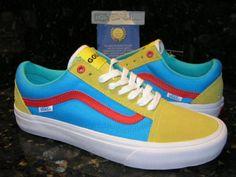 887cc8e7de Vans Old Skool Pro Golf Wang Yellow Blue Red Men s Size 9 Tyler The Creator  CA