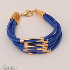 blue Nebula Cord Bracelets, Spring Summer 2015, Leather, Blue, Jewelry, Jewlery, Jewerly, Schmuck, Jewels