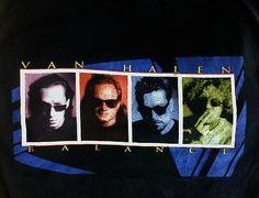 Van Halen T Shirt XL Balance Concert Tour 1995 1996 Eddie Van Halen Sammy Hagar | eBay