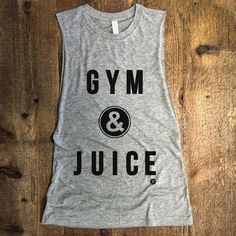 GYM & JUICE Funny Muscle Gym Tank Drop Armhole Boxing by everfitte - Tap the pin if you love super heroes too! Cause guess what? you will LOVE these super hero fitness shirts! Workout Attire, Workout Wear, Gym Style, Workout Style, Mommy Style, Gym Shirts, Fitness Shirts, Fitness Wear, Gym Gear