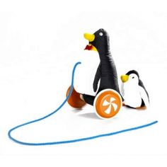 Take a look at this Pull-Along Penguin by Wonderworld on today!NATE would want maddy to have this. Penguin Pictures, Wooden Wheel, Non Toxic Paint, Baby Teethers, Pull Toy, Baby Games, Mother And Baby, Organic Baby, Toddler Toys