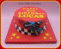 Motorbike Birthday Cake - Cake by Heidi Stone