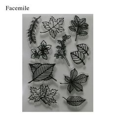 Leaf House Sport Transparent Clear Silicone Stamp Seal For DIY Scrapbooking Photo Album Decorative Clear Stamp
