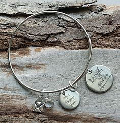 Raising my Tribe Mommy Personalized Adjustable Wire Bangle Bracelet