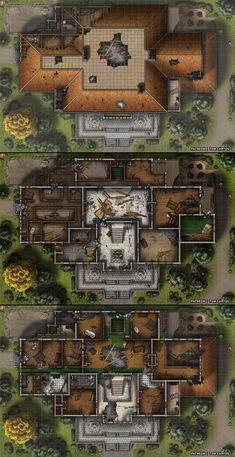 Homebrewing layout Essenheim Manor - A Three Level Stately Home and Banquet Hall! Fantasy City, Fantasy Map, Rpg Cyberpunk, Pathfinder Maps, Rpg Map, Building Map, Japon Illustration, Flat Illustration, Map Pictures