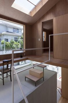 To make a small house seemed spacious.House in Kawanishi / Tato Architects Timber Architecture, Japanese Architecture, Architecture Design, Interior Decorating Styles, Japanese House, Industrial House, Interior Design Studio, Building A House, House Design