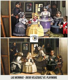 37 Obras de Arte Clasicas hechas con Playmobil / 37 Classical Artworks remakes with Playmobil Diego Velazquez, Playmobil Toys, Star Wars Personajes, Famous Artwork, Winter House, Oeuvre D'art, Art And Architecture, Legos, Art History