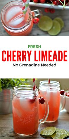Fresh Cherry Limeade: This sweet limeade is the perfect way to cool down on a…