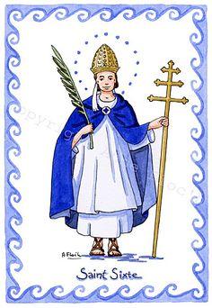 Saint Sixte, pape et martyr Illustrations, Confirmation, Communion, Saints, Religion, Princess Zelda, Fictional Characters, Sad, Godchild