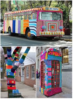 It has been a while since participating in a yarn bombing. Need to do it again soon!