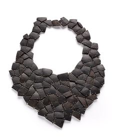 Shirly Lay (Indonesia), made from coconut shell and silver  First year BFA,  necklace,   coconut, silver