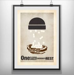 one flew over the cuckoos nest Minimalist Minimal Film Movie Poster Print in Art, Posters, Contemporary (1980-Now) | eBay!