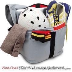Large Zero Messenger Bag, Performance Tweed™ | Rickshaw Bagworks. This looks like a great gym bag.
