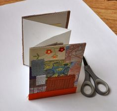 Accordion book with pockets.