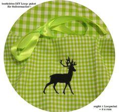 STICK♥Loop♥ DIY Karo- Hirsch - Scherenschnitt  von ஐღKreawusel-aufgehübschtஐღ  auf DaWanda.com