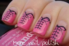 Lace up corsets - water decals from Born Pretty Store | More Nail Polish
