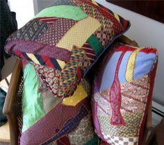 tie pillows