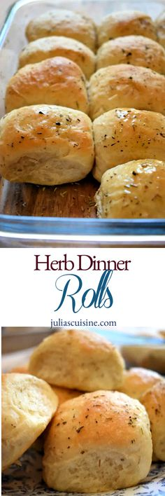 Herb Dinner Rolls Who doesn't love a good dinner roll? Well, if you are anything like me, you might just love them. And I have to say, these Herb Dinner Rolls were excellent and I didn'… Bread Recipes, Baking Recipes, Muffin Recipes, Dinner Rolls Recipe, Mini Desserts, Bread Rolls, Quick Bread, What To Cook, Bread Baking