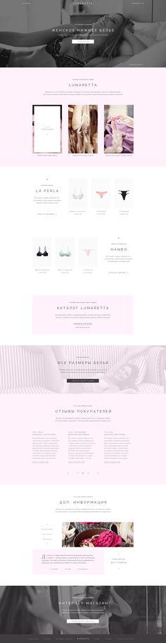 Lingerie Simple Web Design, User Experience Design, Site Internet, Motion Design, Page Design, Graphic Design Inspiration, Website Template, Banners, Layout