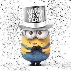 The new year is about to begin, and all want to send new year greetings to wish their friends, relatives, and loving one. Celebrate this new year by sending them funny new year wishes & quote pictures. Also check out some funny new year resolutions here. Cute Minions, Minions Despicable Me, My Minion, Minion 2015, Minions Bob, Minion Stuff, Minion Banana, Happy New Year Minions, Happy New Year 2016