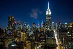 NYC - Night view in Midtown Manhattan