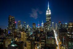 NYC - Night view in Midtown Manhattan