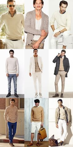 Men's Nude Coloured Knitwear Outfit Lookbook Inspiration