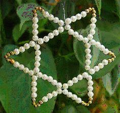 The Six-Pointed Star of David is a reminder of Israel's greatest and most loving king, who died after reigning 40 years, wrote psalms, a. Beaded Christmas Decorations, Hanukkah Decorations, Beaded Ornaments, Christmas Crafts, Christmas Stars, Jesse Tree Ornaments, Xmas Ornaments, Christian Symbols, Star Of David