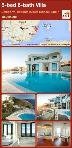 Villa for Sale in Benidorm, Alicante (Costa Blanca), Spain with 5 bedrooms, 6 bathrooms - A Spanish Life Murcia, Alicante, Valencia, Cinema Room, Mediterranean Sea, Luxury Villa, Wine Cellar, Ground Floor, Game Room