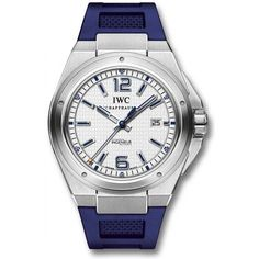 http://www.horloger-paris.com/fr/278-iwc-ingenieur  IWC Ingenieur Automatic Mission Earth Ed. Adventure Ecoly stainless steelrubber bluewhite : IW323608 : IWC