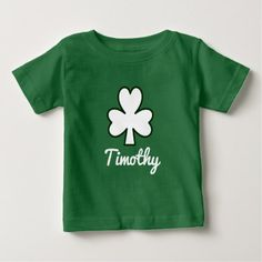 St. Patrick's Day | Shamrock Name Toddler T-shirt - toddler youngster infant child kid gift idea design diy