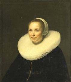 Tempel, Abraham van den (1622c.-1672) - 1646 Portrait of a Woman with a Large Ruff (Rijksmuseum, Amsterdam) | Flickr - Photo Sharing!