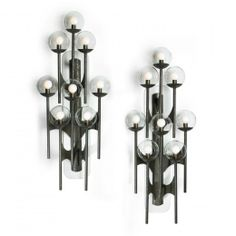 Anonymous, Bronze Sconces by Lightolier, c1965.