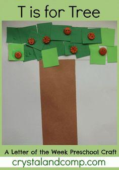 letter of the week preschool craft: t is for tree #activitiesforkids