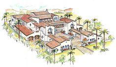 Plan 16385MD: Southwestern Estate Home