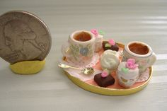 Dollhouse Miniature Tea Tray with Cakes by DEVINEMINIATURESSHOP, $25.00