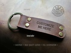 R02 LIONSTARS Leather Keychain man gift husband by THELIONSTARS