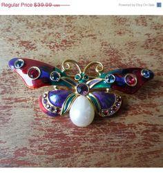 Storewide Sale  Joan Rivers Jeweled Rainbow Butterfly by Xulha, $35.99