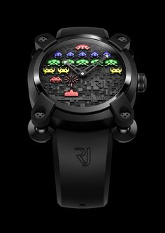 Reloj de Space invaders