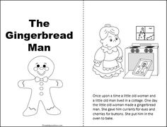 This is a free Gingerbread Man story that can be copied, cut, and stapled into books for your 1st - 3rd grade students to read, color, and take home. Great freebie! Cut each page in half, put in order, and staple to make books.