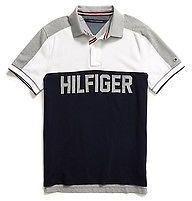 Camisa Tommy Hilfiger Infantil Azul e Branca Boys Concept