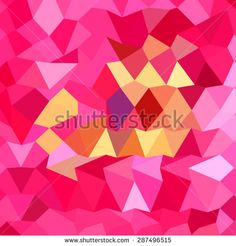 Low polygon style illustration of a brink pink abstract geometric background.