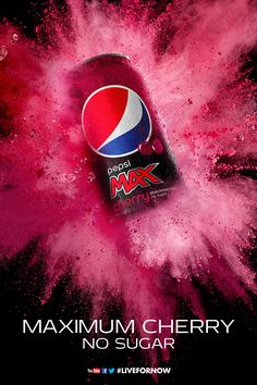 Marcel Christ collaborates with Pepsi for the relaunch of Pepsi Max Cherry.